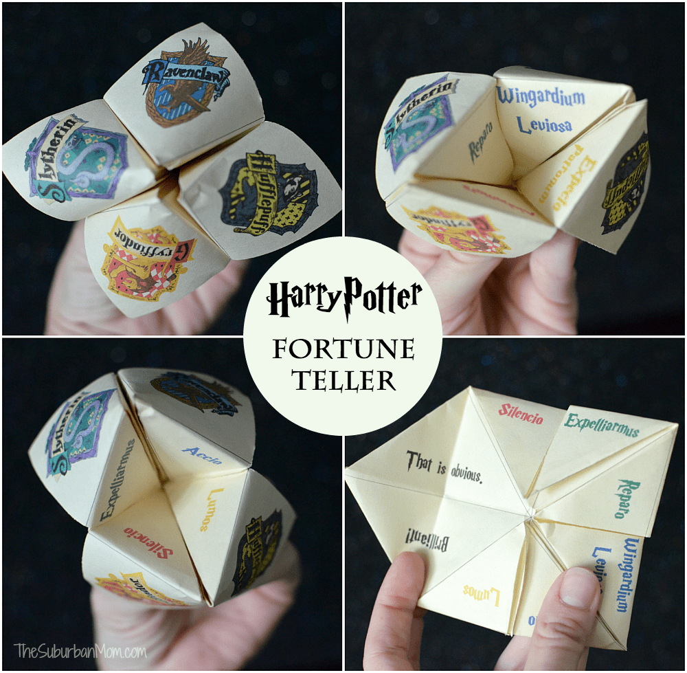 image regarding Harry Potter Activities Printable called Harry Potter Fortune Teller Printable And Manual - The