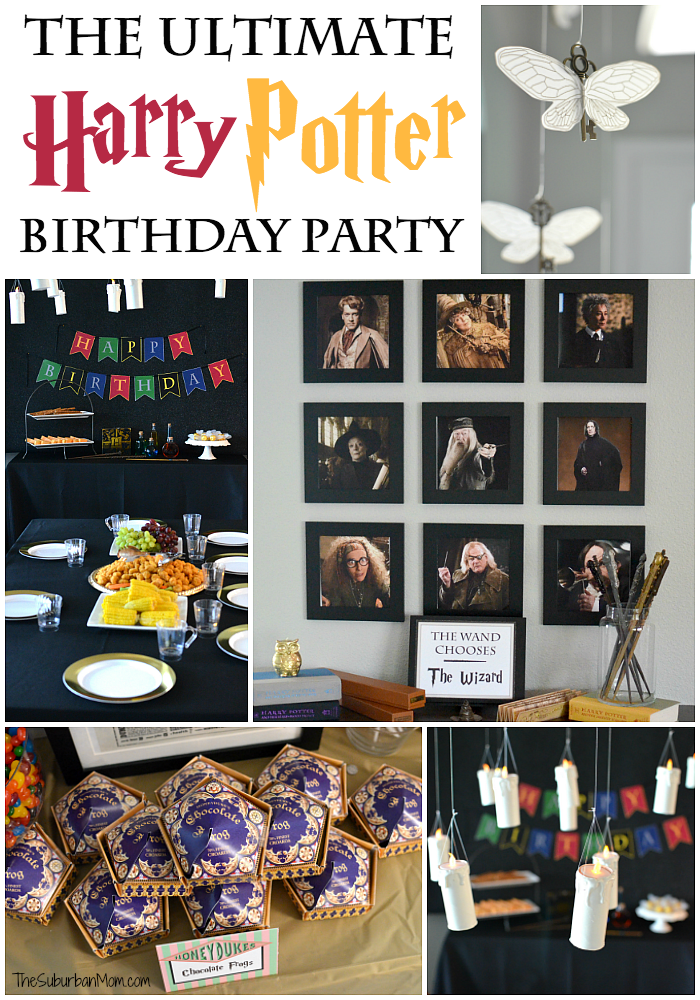 ultimate harry potter birthday party ideas