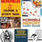 Incredibles 2 Coloring Pages Activity Pages