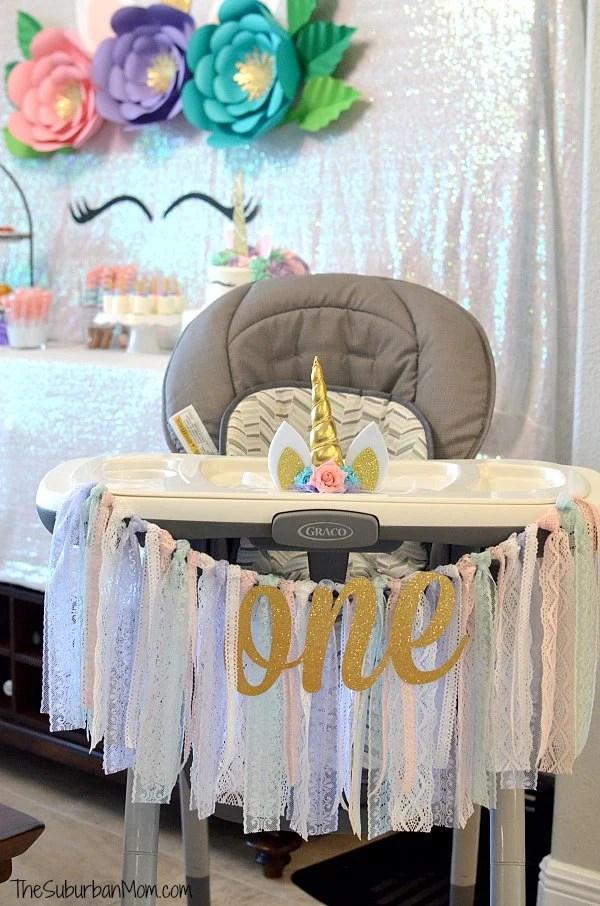 Unicorn First Birthday Party