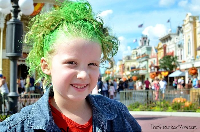 Disney Zombies Green Hair