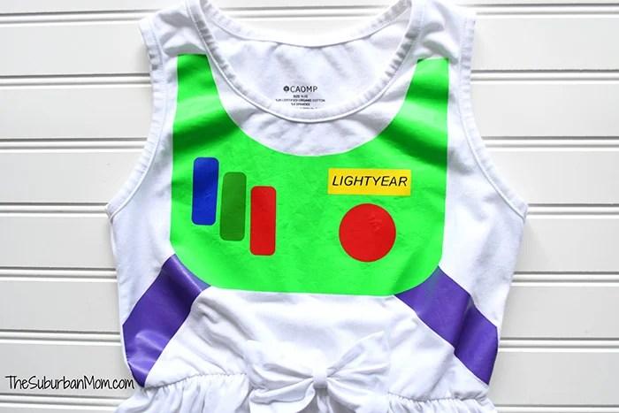 DIY Buzz Lightyear Dress
