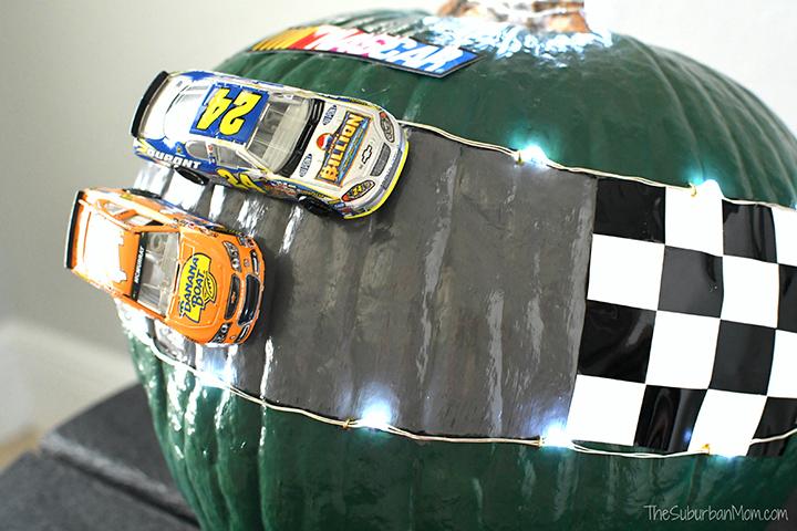 No Carve NASCAR Pumpkin