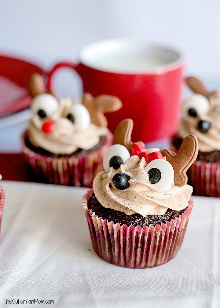 Gingerbread Reindeer Cupcakes