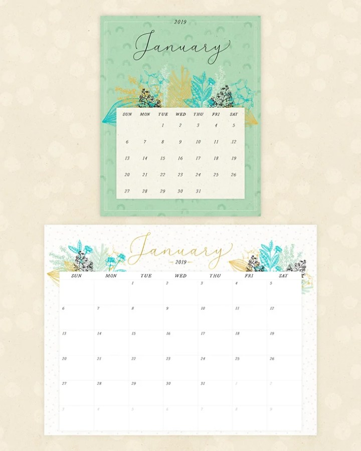 Floral 2019 Calendars