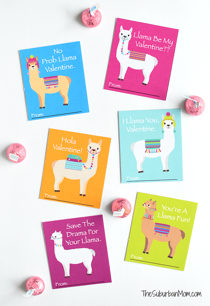 Printable Llama Valentines Cards The Suburban Mom