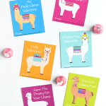 Printable Llama Valentines Cards