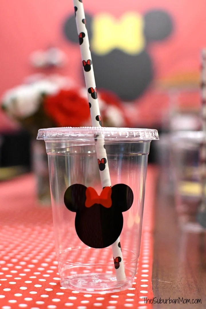 Minnie Mouse Cup Straw