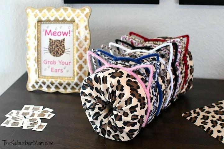 Cheetah Cat Ears Party Favor