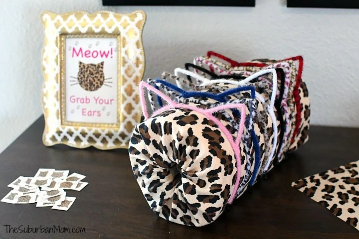 Cheetah Cat Ears Party Favor