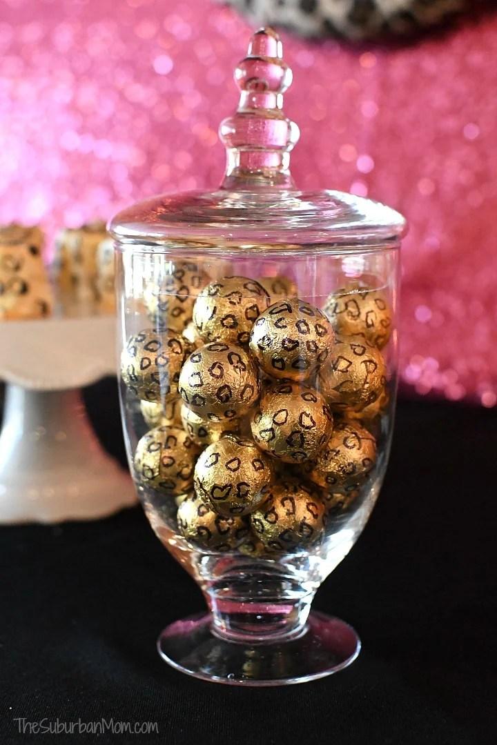 DIY Cheetah Chocolate Candy