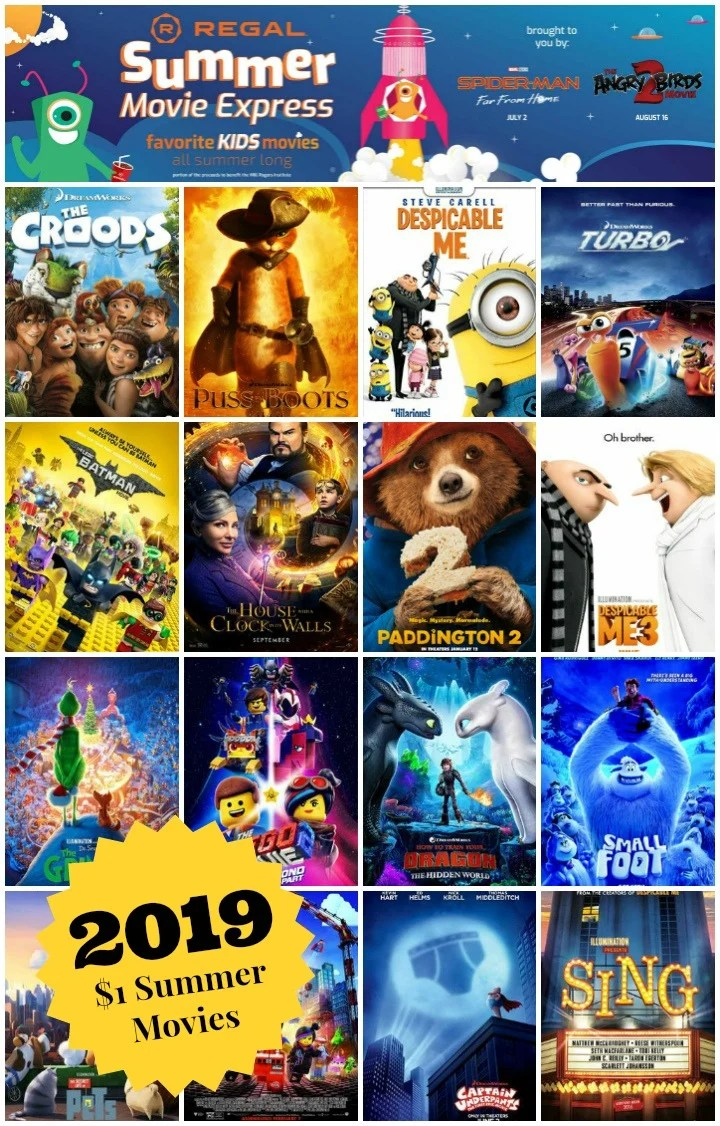 Regal Summer Movie Express 2019 $1 Movie Schedule