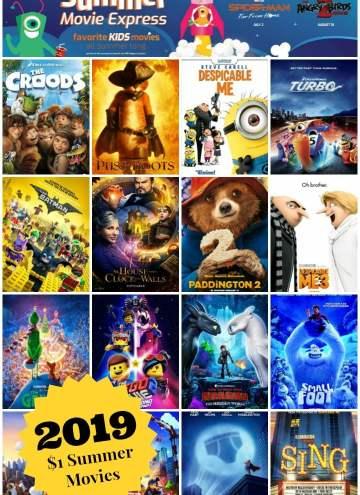 Regal $1 Summer Movies 2019