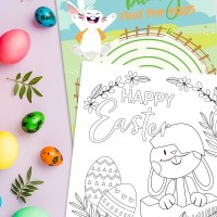 Free Printable Easter Bunny Coloring Pages + Activity Page