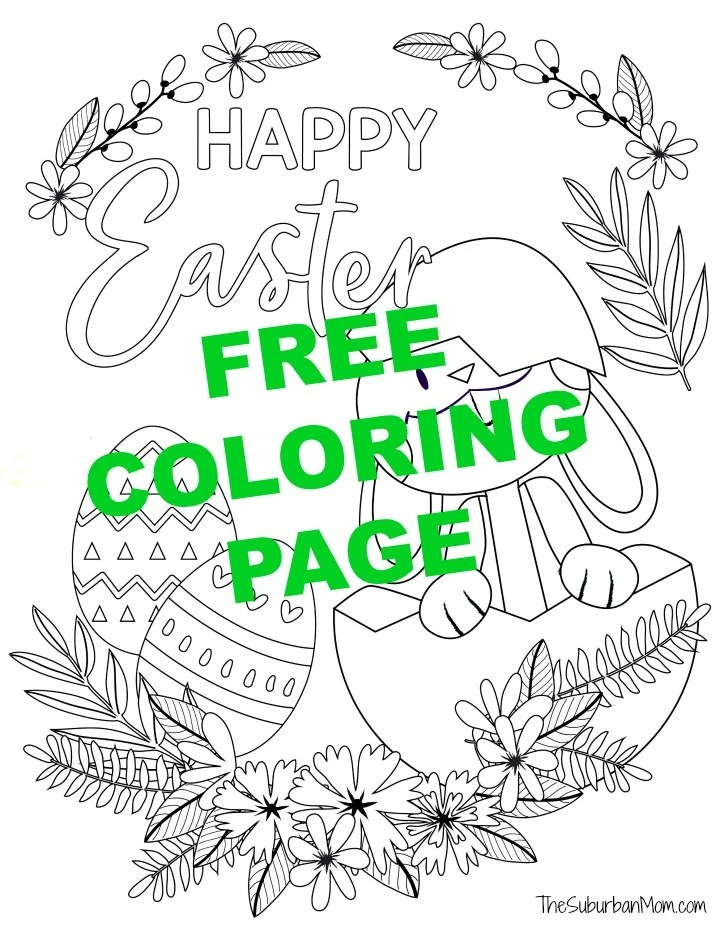 Free Printable Easter Bunny Coloring Pages Activity Page