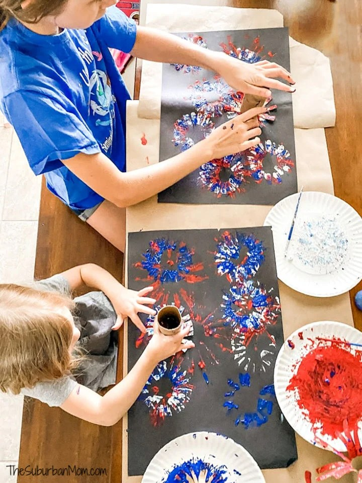 Kids 4th of July Painting