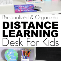 Create A Personalized Distance Learning Desk For Back To School With Cricut