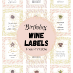 Free Printable Birthday Wine Labels