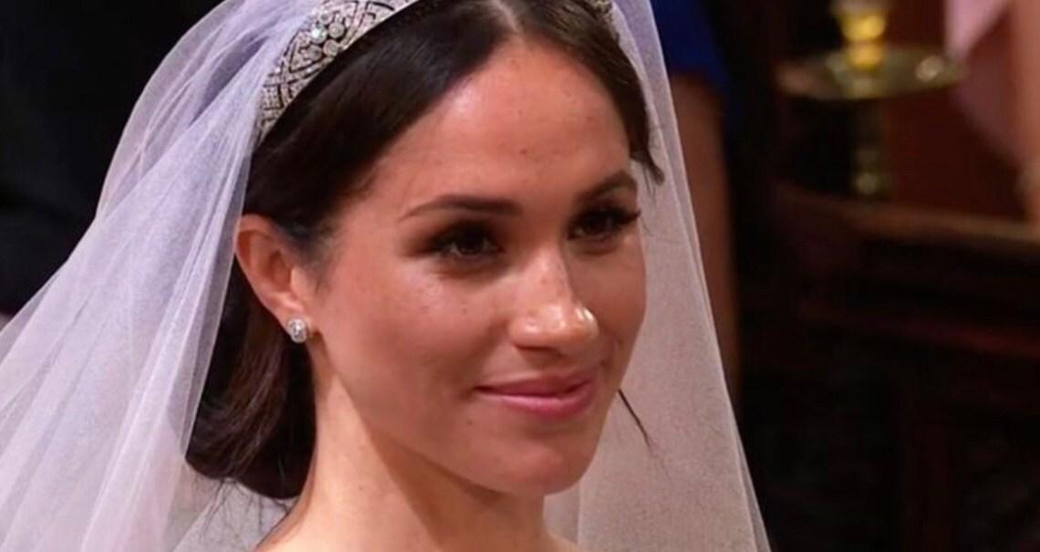 Meghan Markle's fresh faced wedding day makeup