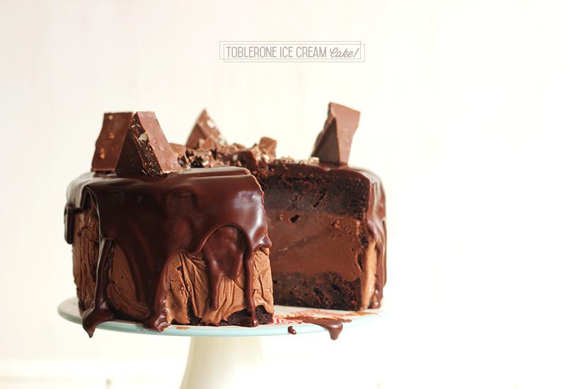 Toblerone Ice Cream Cake!   The Sugar Hit