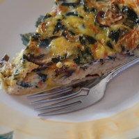Spinach, Mushroom and Carrot Quiche