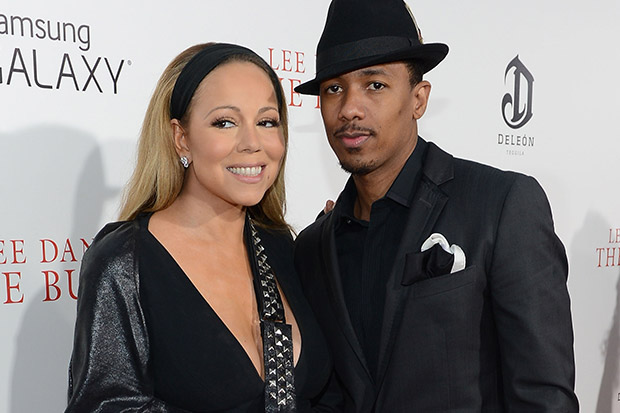 Mariah Carey (L) and Nick Cannon