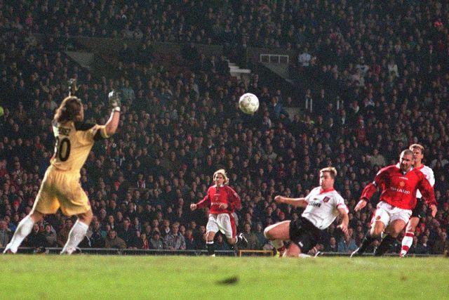 Eric Cantona's chip against Sunderland is one of the Premier League's most iconic goals