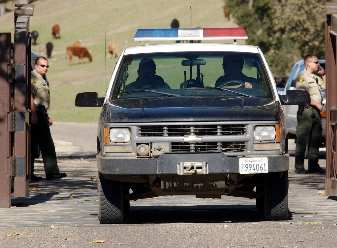 Cops raided the singers ranch in 2003