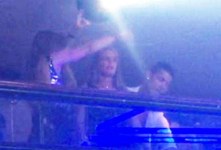 The pair were seen partying with pals as they enjoyed each others company on holiday
