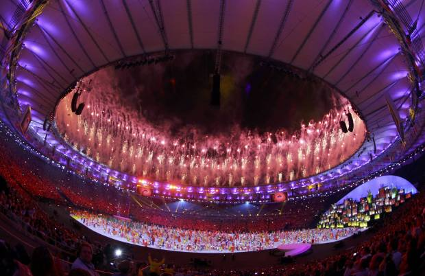 There was plenty of colour and fireworks at the Maracana as the games commenced