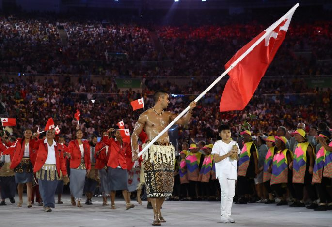 Tonga flagbearer Pita Nikolas Aufatofua caused a stir as he came in shirtless and smothered in oil
