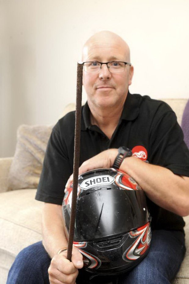 Paul Bradshaw, 55 who was impaled with a metal spike