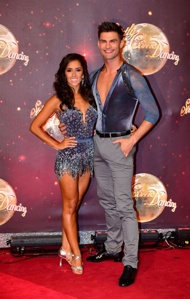 Professional dancers and real life couple, Janette and husband Aljaz Skorjanec