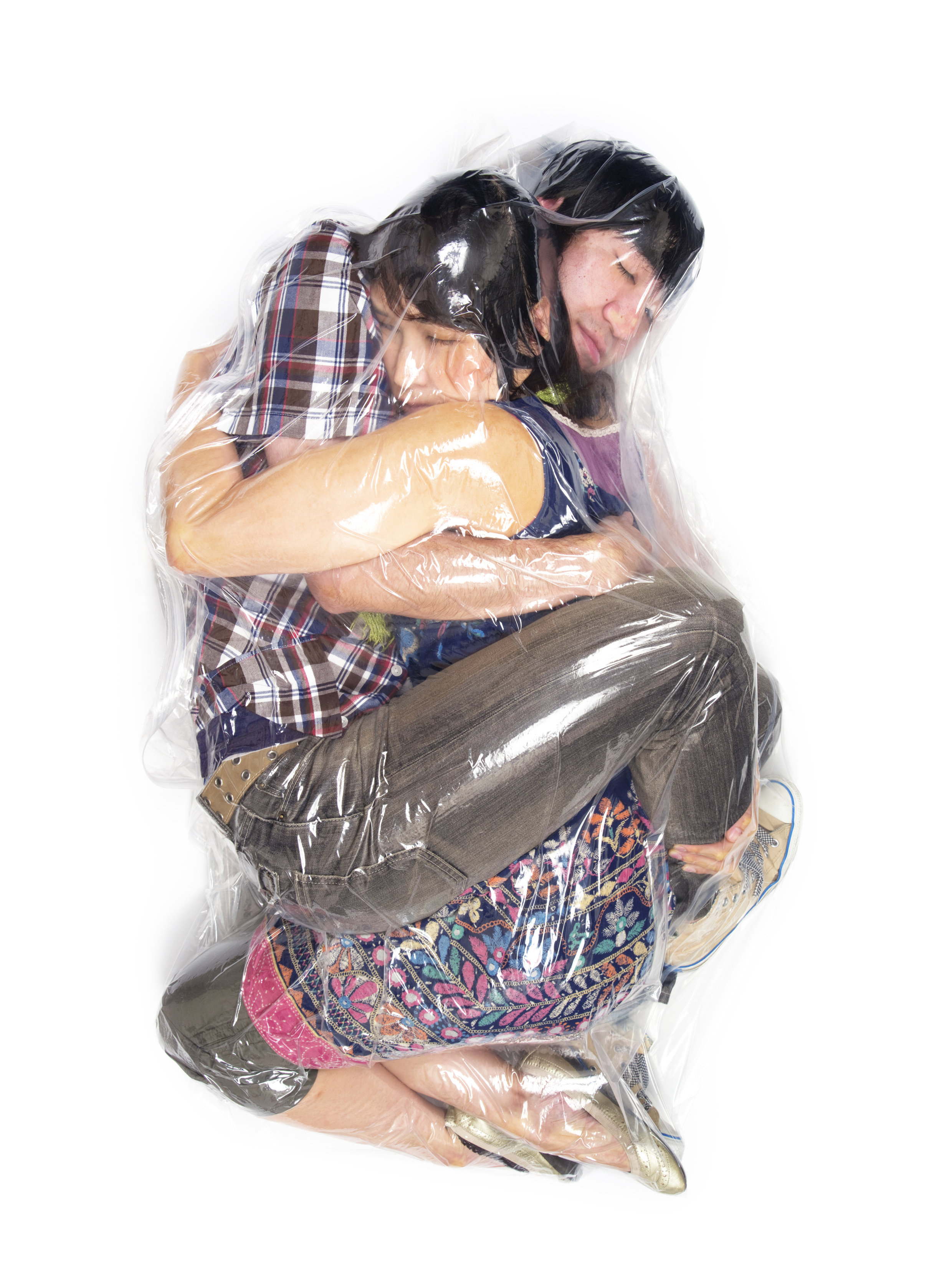 Shrink wrap couple