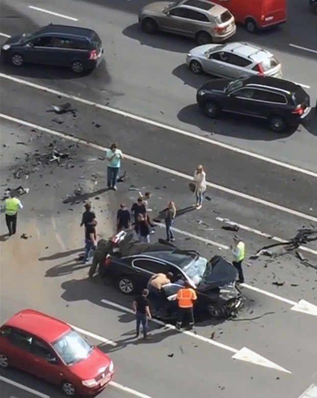 High-speed collision ... Putin's presidential BMW was involved in horror crash in Moscow