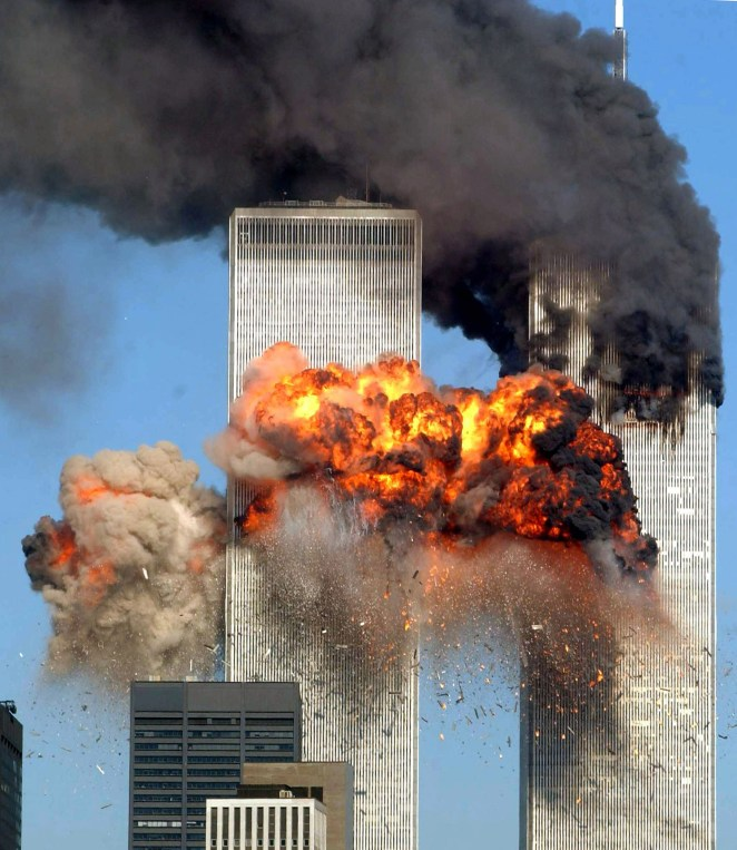 The Twin Towers of the World Trade Center had planes flown into them by terrorists
