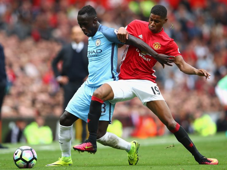 Marcus Rashford shows his battling side as he unsettles City defender Bacary Sagna