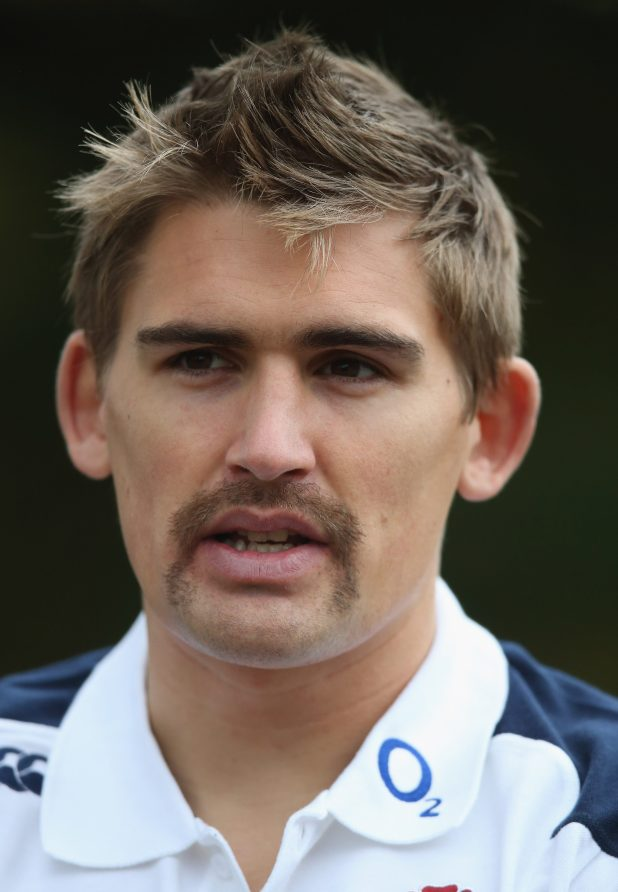 England rugby ace Toby Flood goes full handlebar for Movember