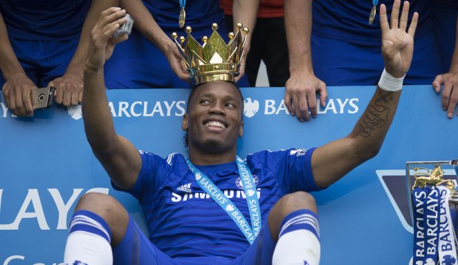 Didier Drogba won the Premier League four times during his days at Chelsea