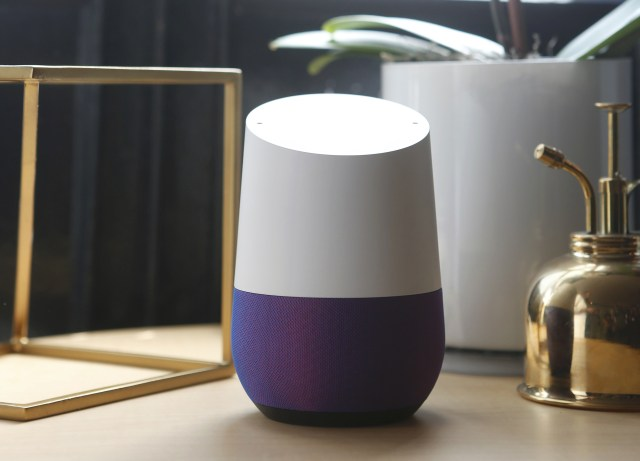 This innocent-looking gadget is called Google Home and is always listening out for its owner's orders