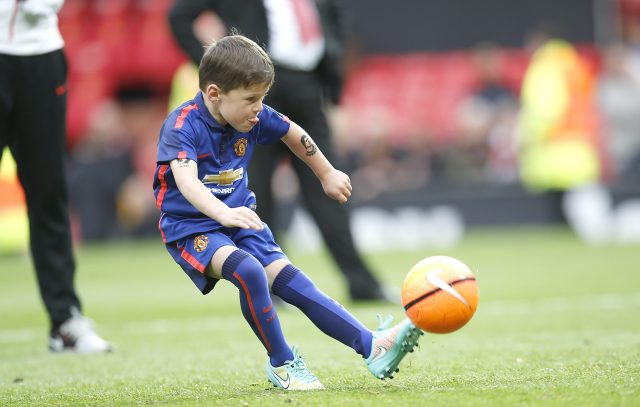 Sx-year-old Kai Rooney has been attending training sessions for the Red Devils' youth team