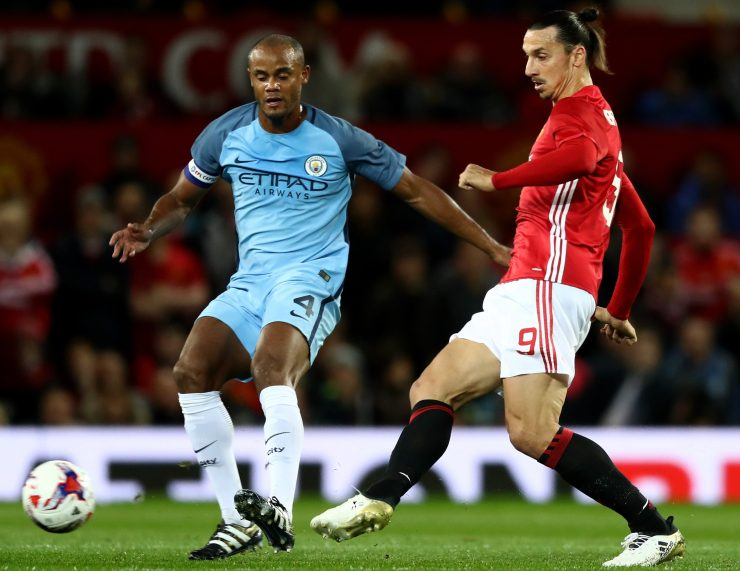 Ibra begins the game against City with his Adidas boots...