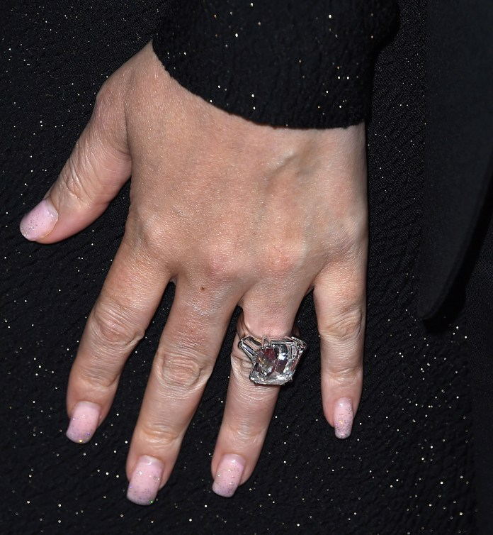 """It has been reported that the singer has been """"allowed"""" to keep her £8 million engagement ring"""