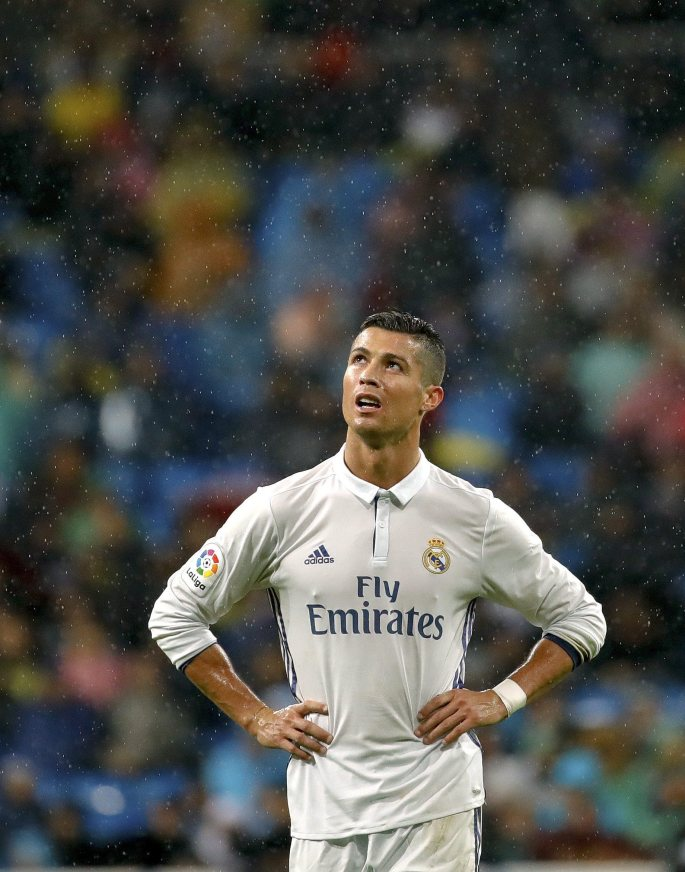 Cristiano Ronlado is enduring a frustrating time in front of goal for Real Madrid and has gone four home games without scoring