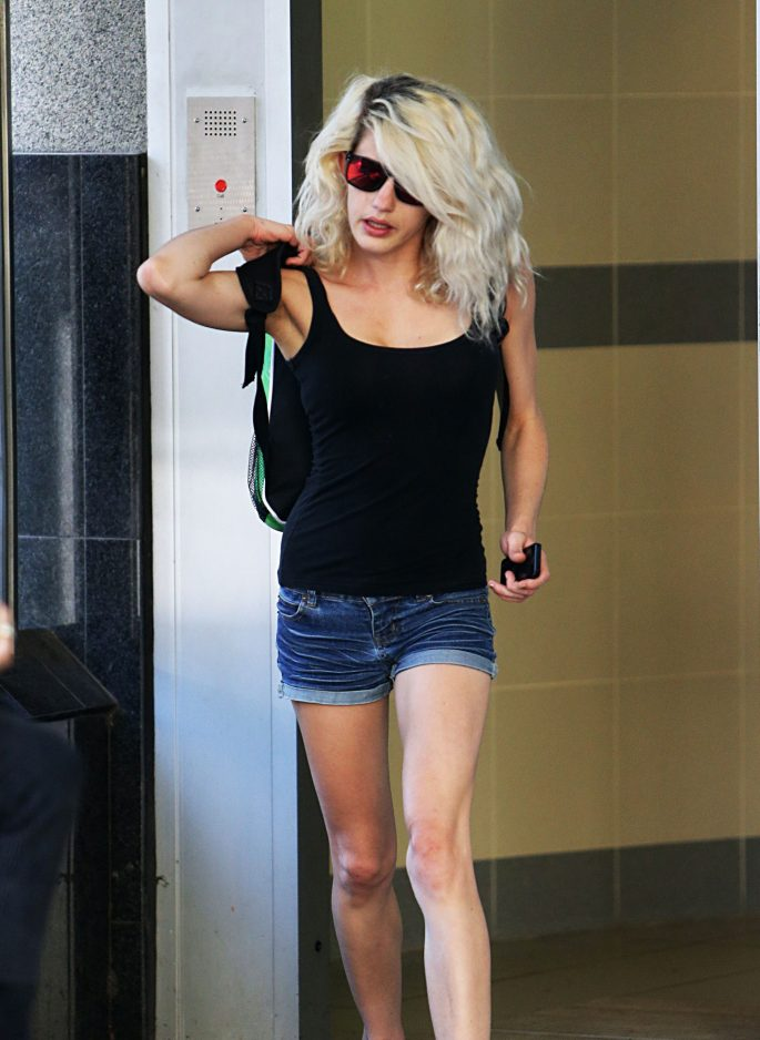 Jenna Louise Driscoll charged with drug trafficking and three counts of bestiality, Brisbane Watchhouse, Queensland, Australia - 29 Oct 2014