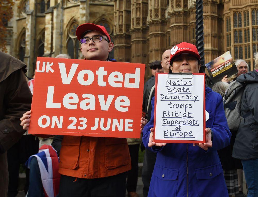 Risultati immagini per brexit protesters