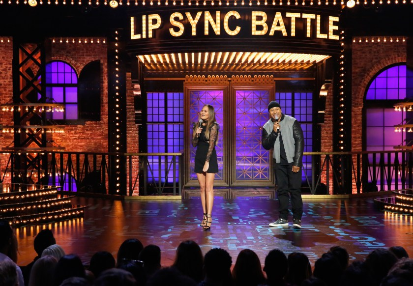 Chrissy co-presents Lip Sync Battle with LL Cool J