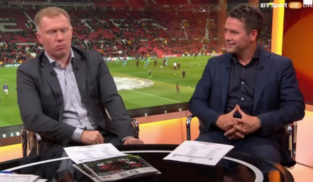 Paul Scholes speaks with Michael Owen on BT Sport