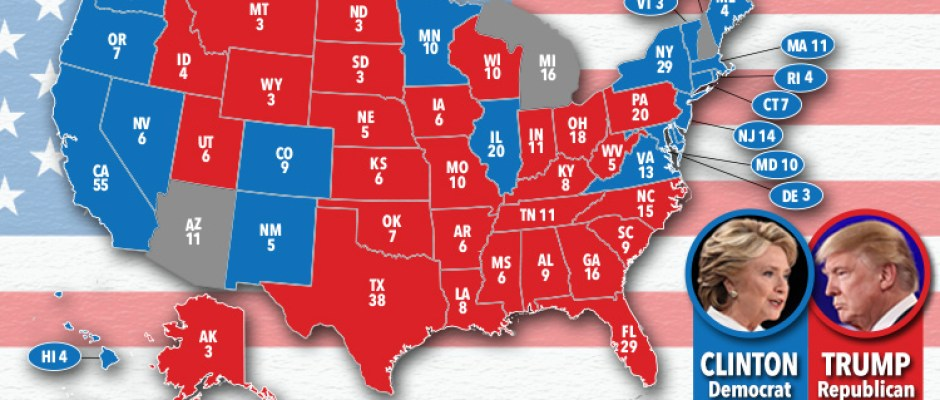 US Election Live Updates And Results Coverage Donald Trump - Final us electoral map 2016