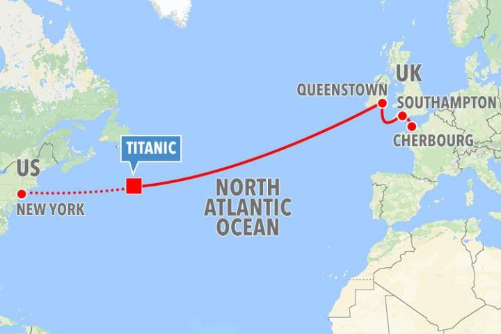 map of titanic journey » Agricshow | Nursery